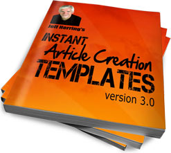 article marketing templates, content creation templates, jeff herring