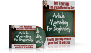 Jeff Herring Article Marketing for Beginners