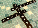 business success scrabble tiles