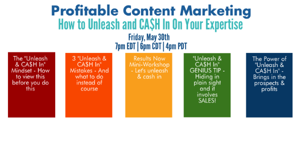 Unleash and Cash In Webinar Image