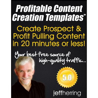 Profitable Content Creation Templates Jeff Herring