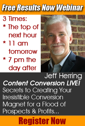 Jeff Herring FREE Training Webinar