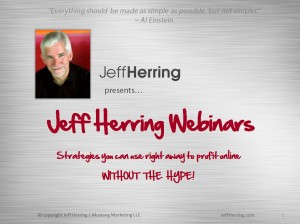 jeff herringwebinars, article marketing, jeff herring